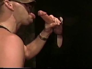 Chad in gloryhole cum bj