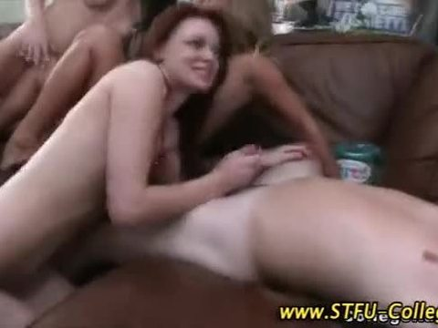 Amateur college orgy party